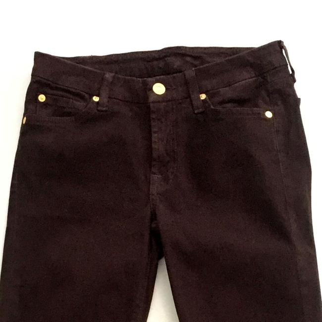 7 For All Mankind The Slim Cigarette Suede Women Size 27 Suede Size 27 Skinny Jeans Image 3