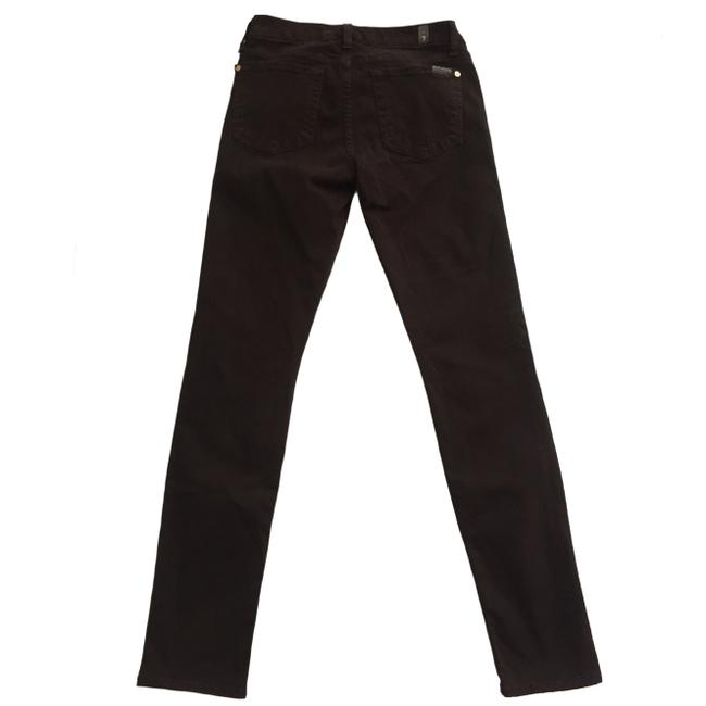 7 For All Mankind The Slim Cigarette Suede Women Size 27 Suede Size 27 Skinny Jeans Image 4