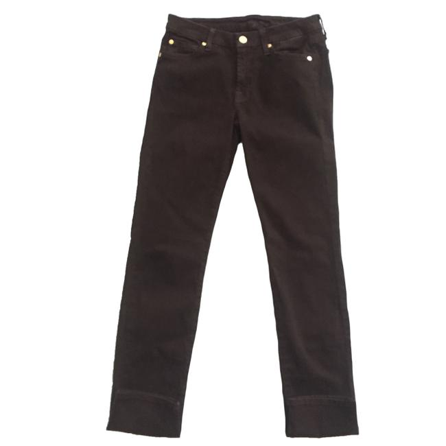 7 For All Mankind The Slim Cigarette Suede Women Size 27 Suede Size 27 Skinny Jeans Image 5