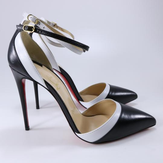 Christian Louboutin White Color Ankle Strap black Pumps Image 3