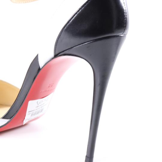 Christian Louboutin White Color Ankle Strap black Pumps Image 5