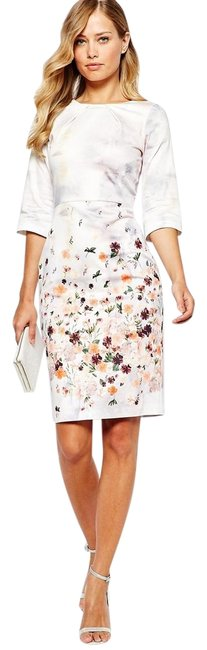 Preload https://img-static.tradesy.com/item/25973975/pink-new-floral-print-with-34-sleeve-mid-length-workoffice-dress-size-10-m-0-3-650-650.jpg