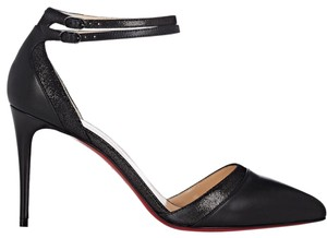 Christian Louboutin Ankle Strap Heels Pointed Toe black Pumps