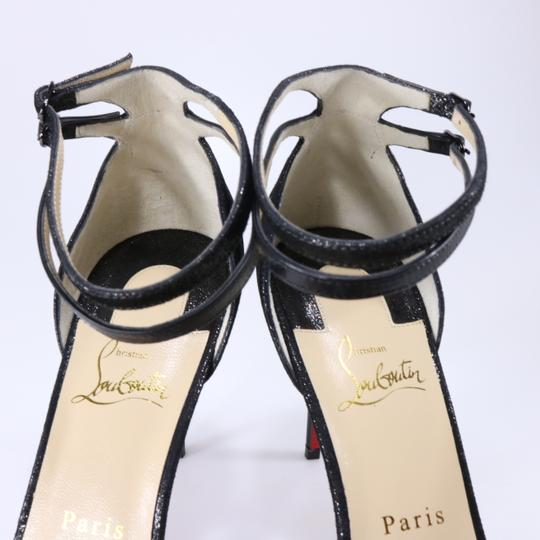 Christian Louboutin Ankle Strap Heels Pointed Toe black Pumps Image 6