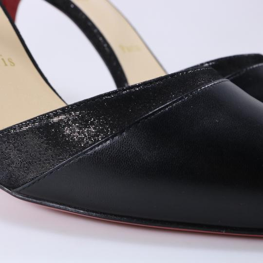 Christian Louboutin Ankle Strap Heels Pointed Toe black Pumps Image 7