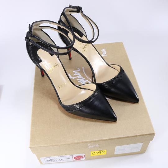 Christian Louboutin Ankle Strap Heels Pointed Toe black Pumps Image 1