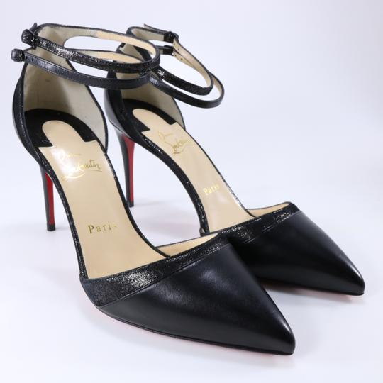 Christian Louboutin Ankle Strap Heels Pointed Toe black Pumps Image 2