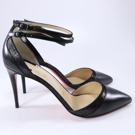 Christian Louboutin Ankle Strap Heels Pointed Toe black Pumps Image 3