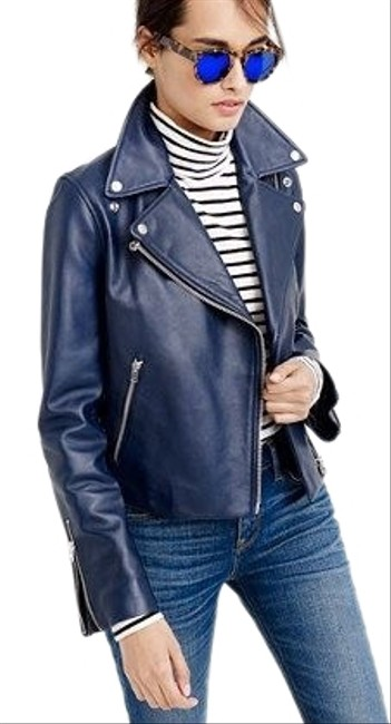 Item - Blue Collection Leather Jacket Size 8 (M)