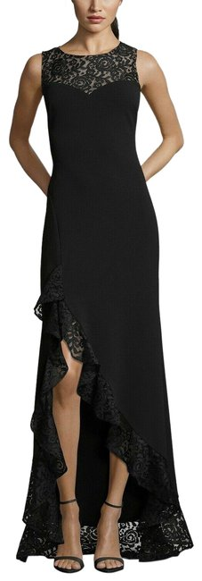 Preload https://img-static.tradesy.com/item/25974028/betsy-and-adam-black-lace-high-low-ruffle-gown-long-formal-dress-size-14-l-0-2-650-650.jpg