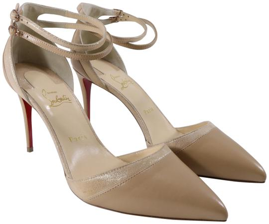 Preload https://img-static.tradesy.com/item/25974054/christian-louboutin-beige-uptown-double-85mm-nude-gold-patent-suede-ankle-strap-c092-pumps-size-eu-4-0-2-540-540.jpg