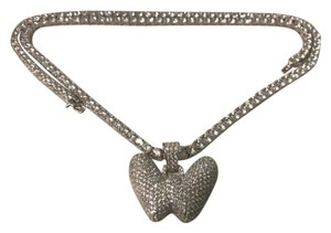 Harlembling Harlembling 14k White Gold Solid Ag 5mm Tennis Chain Necklace