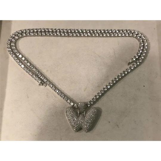 Harlembling Harlembling 14k White Gold Solid Ag 5mm Tennis Chain Necklace Image 2