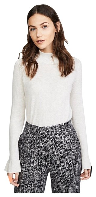 Preload https://img-static.tradesy.com/item/25974069/joie-bell-sleeve-lightweight-light-grey-sweater-0-2-650-650.jpg