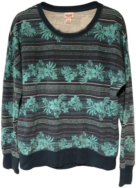 Preload https://img-static.tradesy.com/item/25974081/mossimo-supply-co-tropical-blueteal-sweater-0-2-650-650.jpg