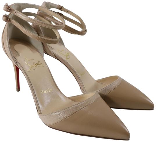 Preload https://img-static.tradesy.com/item/25974084/christian-louboutin-beige-uptown-double-85mm-nude-gold-patent-suede-ankle-strap-c095-pumps-size-eu-4-0-2-540-540.jpg