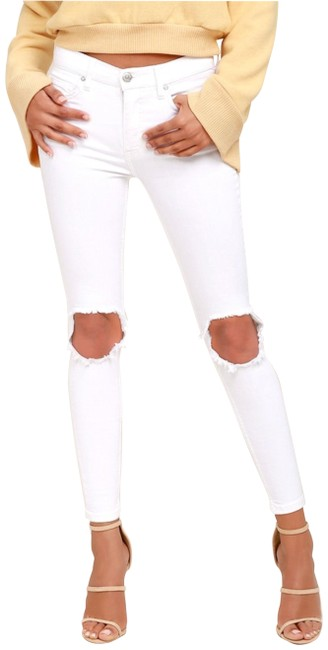 Preload https://img-static.tradesy.com/item/25974098/free-people-white-busted-knee-women-s-skinny-jeans-size-26-2-xs-0-2-650-650.jpg