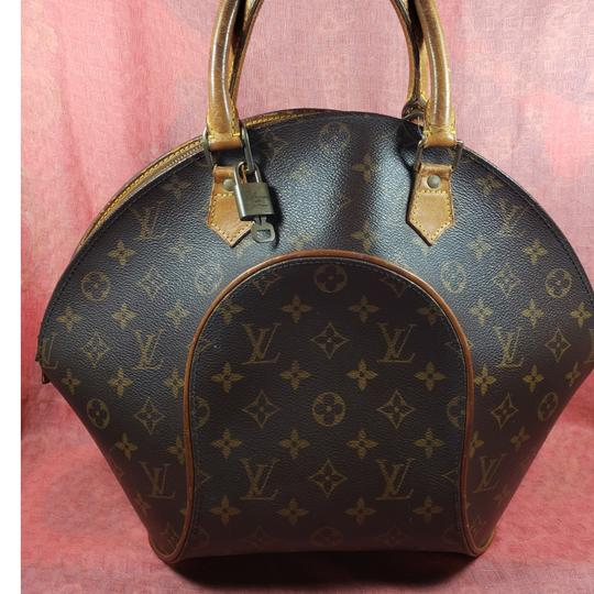 Preload https://item2.tradesy.com/images/louis-vuitton-ellipse-monogram-gm-brown-leather-satchel-25974111-0-1.jpg?width=440&height=440