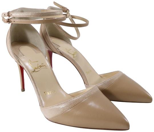 Preload https://img-static.tradesy.com/item/25974112/christian-louboutin-beige-uptown-double-85mm-nude-gold-patent-suede-ankle-strap-c098-pumps-size-eu-3-0-2-540-540.jpg