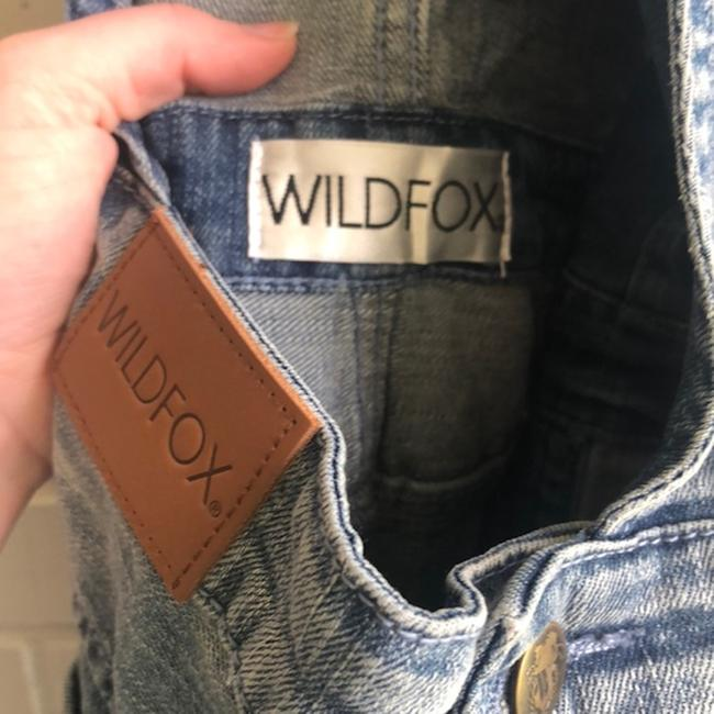 Wildfox Overalls Distressed Revolve Capri/Cropped Denim-Light Wash Image 7