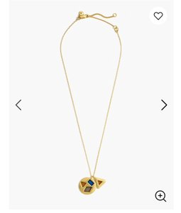 Madewell madewell stained glass charm necklace