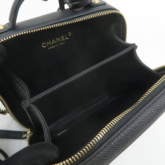 Chanel Vanity Case Caviar Quilted Satchel in Black Image 10