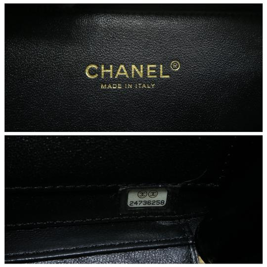 Chanel Vanity Case Caviar Quilted Satchel in Black Image 11