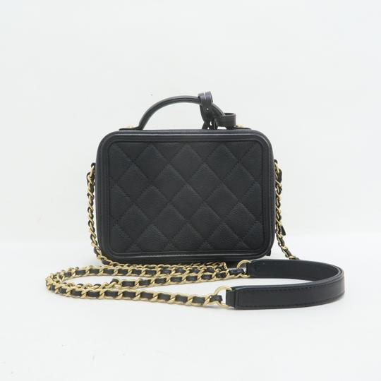 Chanel Vanity Case Caviar Quilted Satchel in Black Image 3