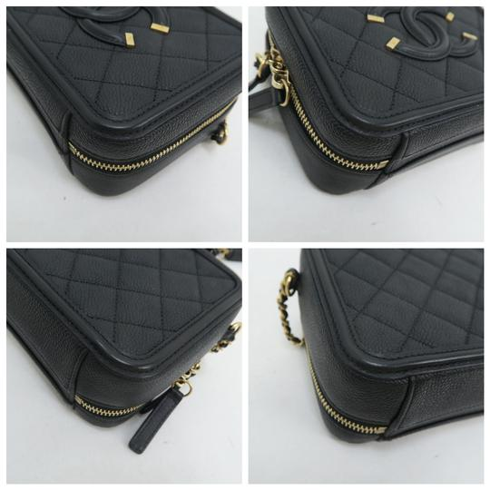 Chanel Vanity Case Caviar Quilted Satchel in Black Image 6