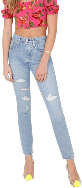 Item - Light Wash 501 High Rise Skinny Jeans Size 25 (2, XS)