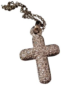Charles Winston Charles Winston Sterling Silver Cubic Zirconia Cross Necklace B74