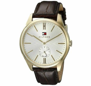 Tommy Hilfiger Tommy Hilfiger Men Curis Sub-Dial Brown Leather Watch 44mm