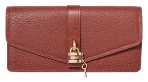 Chloé Aby lock leather continental long wallet