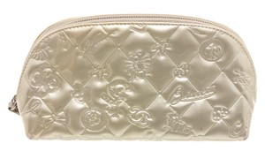 Chanel Chanel Silver Patent Leather Lucky Charms Cosmetic Pouch Bag