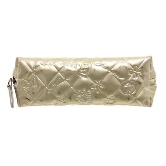 Chanel Chanel Silver Patent Leather Lucky Charms Cosmetic Pouch Bag Image 3