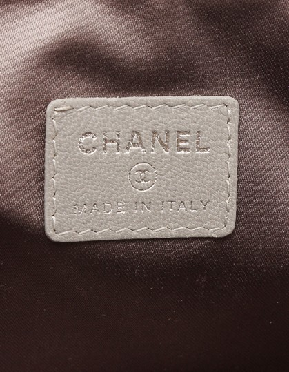 Chanel Chanel Silver Patent Leather Lucky Charms Cosmetic Pouch Bag Image 8