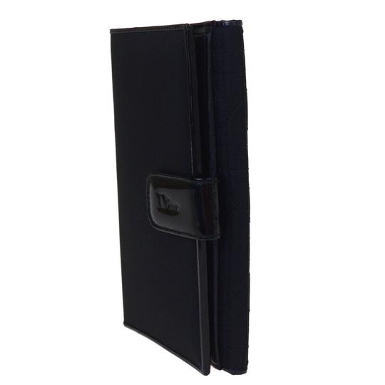 Dior Christian Dior Cannage Bifold Wallet Patent Leather Nylon Black Image 1