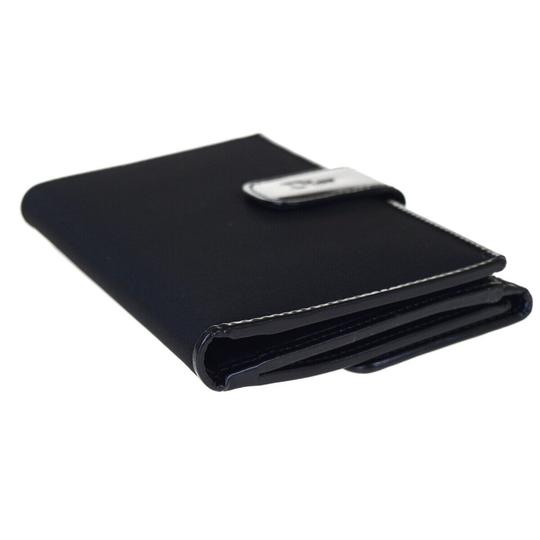 Dior Christian Dior Cannage Bifold Wallet Patent Leather Nylon Black Image 5