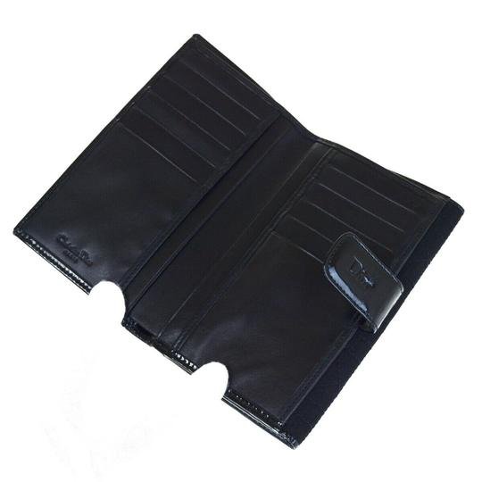 Dior Christian Dior Cannage Bifold Wallet Patent Leather Nylon Black Image 8