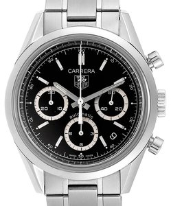 TAG Heuer Tag Heuer Carrera Black Dial Chronograph Mens Watch CV2113 Card