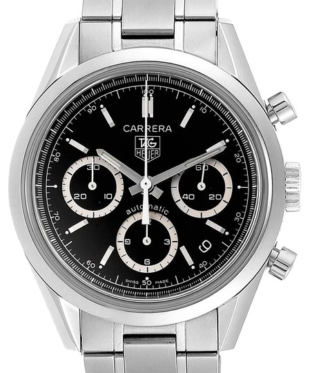 TAG Heuer Tag Heuer Carrera Black Dial Chronograph Mens Watch CV2113 Card Image 0