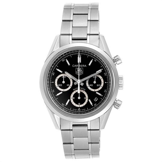TAG Heuer Tag Heuer Carrera Black Dial Chronograph Mens Watch CV2113 Card Image 1