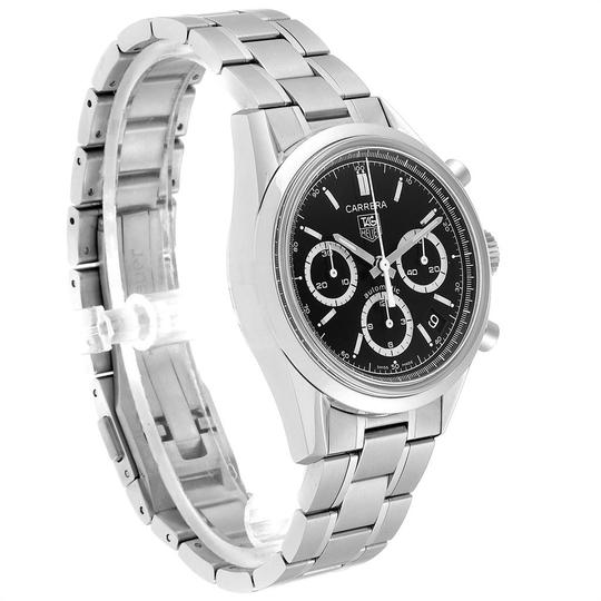 TAG Heuer Tag Heuer Carrera Black Dial Chronograph Mens Watch CV2113 Card Image 2
