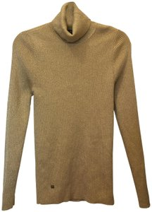 Lauren Ralph Lauren And Gold Turtle Neck Metal Logo Tab Size L Large New With Tags Sweater