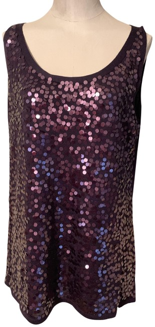 Eileen Fisher Silk Tank Sequined Tank Tunic Image 0