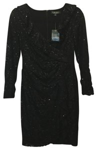 Lauren Ralph Lauren Sequin And Lace Ruffle Accent Size 8 Petite New With Tags Dress