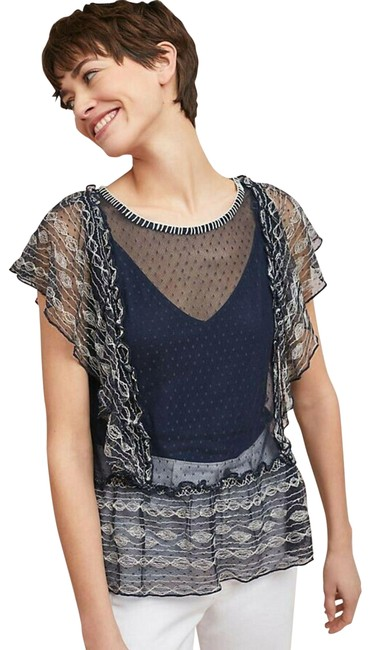 Preload https://img-static.tradesy.com/item/25975300/anthropologie-blue-new-sloane-dotted-by-meadow-rue-sp-small-blouse-size-petite-4-s-0-2-650-650.jpg