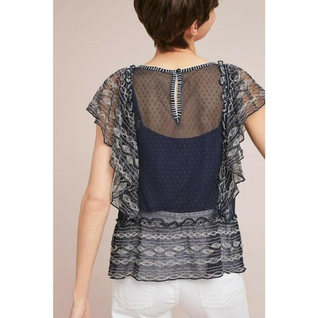 Anthropologie Dotted Meadow Rue Top Blue Image 1