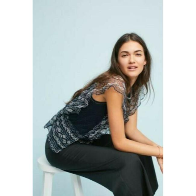 Anthropologie Dotted Meadow Rue Top Blue Image 2