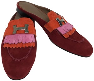 Hermès Red Mules